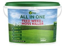 Vitax All In One Feed Weed & Moss Killer - 300sqm Tub